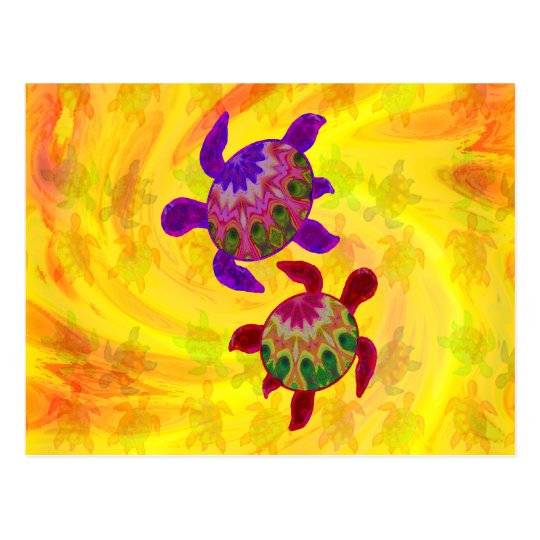 Painted Turtles Notes Card