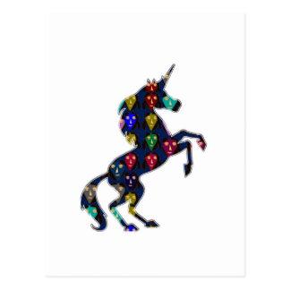 Painted UNICORN horse fairytale navinJOSHI NVN100 Postcard