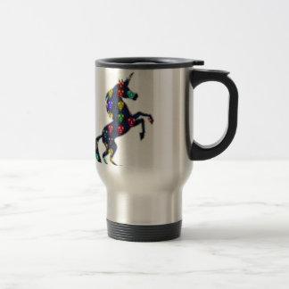 Painted UNICORN horse fairytale navinJOSHI NVN100 Travel Mug