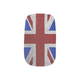 Painted Union Jack, Matching print Minx ® Nail Art