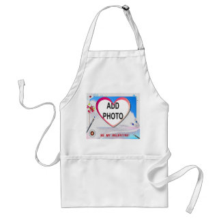 Painted Valentine Heart Add Your Photo Adult Apron