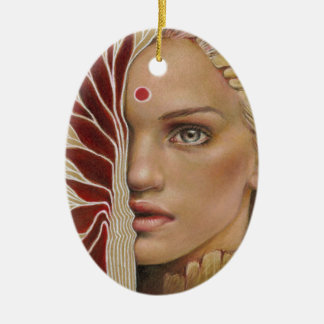 Painted Veil Ceramic Ornament