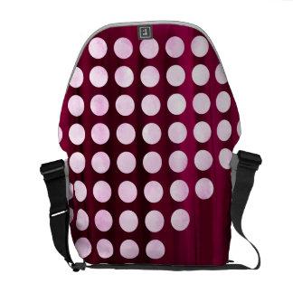 Painted Velvet Polka dot Pattern Courier Bag