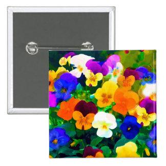 Painted Violets (2012 Pinback Button