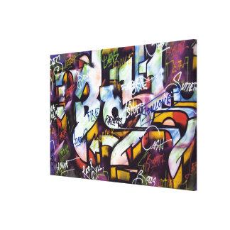 PAINTED WALL GRAFFITI CANVAS PRINT