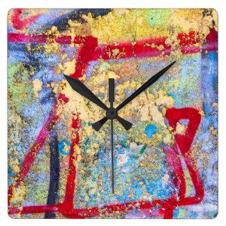 Painted wall square wall clock