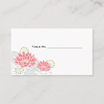 Painted Water Lilies - Table Numbers set of 100 Place Card