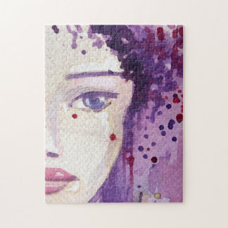 Painted Watercolor Background Jigsaw Puzzle