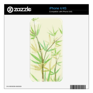 Painted watercolor card with wild stylized decals for the iPhone 4
