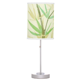 Painted watercolor card with wild stylized desk lamp