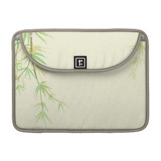 Painted watercolor card with wild stylized MacBook pro sleeves