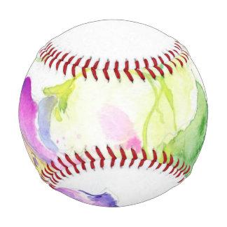 Painted watercolor convolvulus flowers baseball