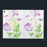 """Painted watercolor convolvulus flowers case for iPad air<br><div class=""""desc"""">Painted watercolor convolvulus flowers &#169; and &#174; Bigstock&#174; - All Rights Reserved.   Create your own watercolor merchandise on Zazzle. Try adding your own text to create a one-of-a-kind product! It&#39;s easy to personalize your own item,  has no minimum orders &amp; is custom produced when you order!</div>"""