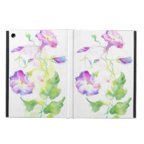 Painted watercolor convolvulus flowers case for iPad air