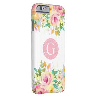Painted Watercolor Floral Monogram Iphone 6 Case