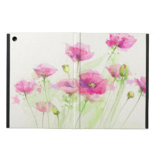 Painted watercolor poppies 3 case for iPad air