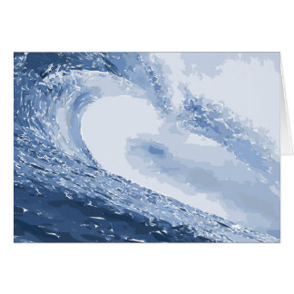 Painted Wave Water Ocean Ripple Card