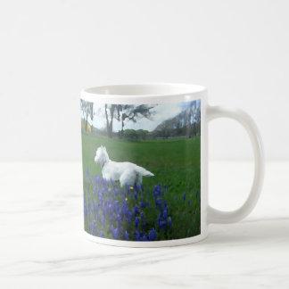 Painted Westie Spring Flowers Mug