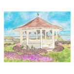Painted White Gazebo In Cape Cod Post Cards
