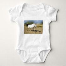 PAINTED WHITE HORSE BABY BODYSUIT