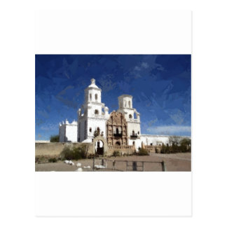 Painted White Mission Postcard