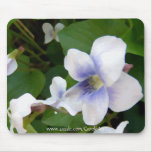 """Painted White Violets"" Mousepad"