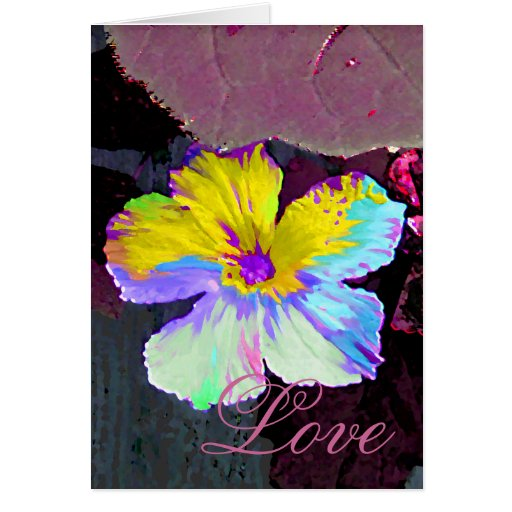 Painted Wildflower Love Greeting Card