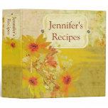 Painted Wildflowers Recipe Binder