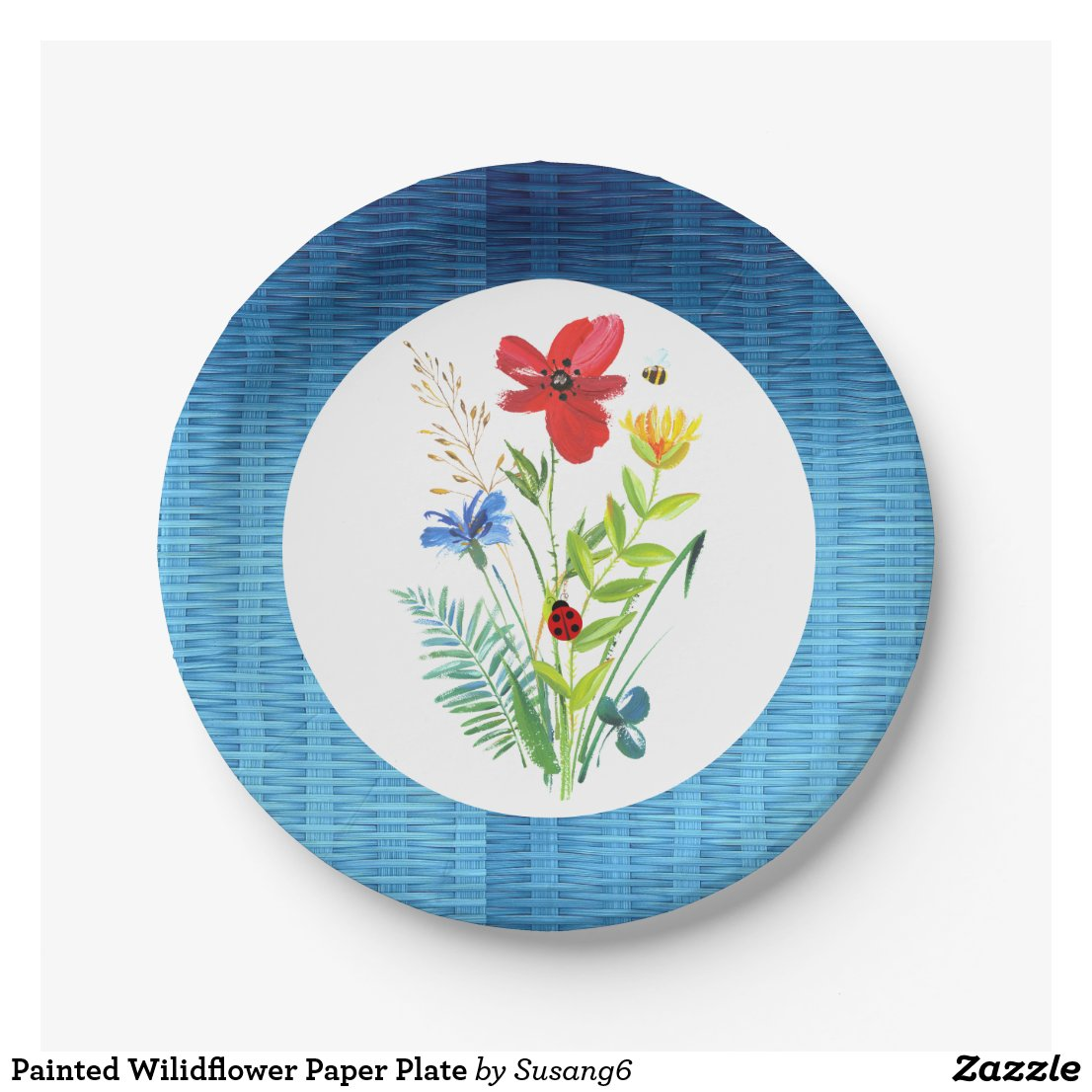 Painted Wilidflower Paper Plate