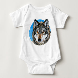 Painted Wolf Baby Bodysuit