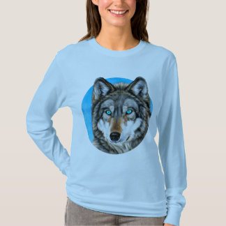 Painted Wolf (Blue Eyes) T-Shirt