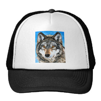 Painted Wolf Mesh Hat
