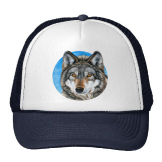 Painted Wolf Trucker Hat