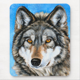 Painted Wolf Mouse Pad