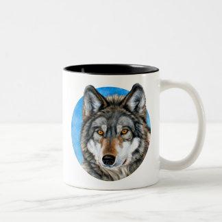 Painted Wolf Two-Tone Coffee Mug