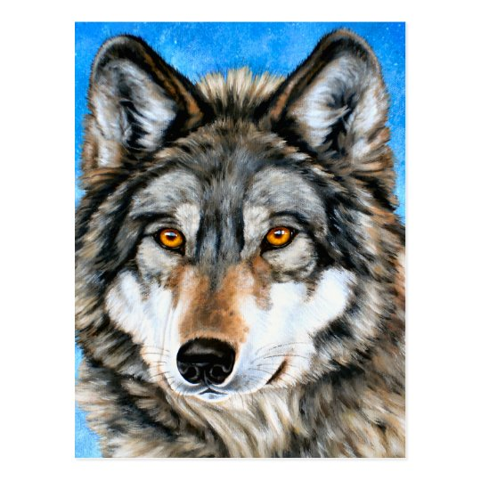 Painted Wolf Postcard