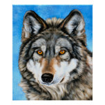 Painted Wolf Print