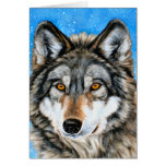 Painted Wolf Season's Greetings Cards