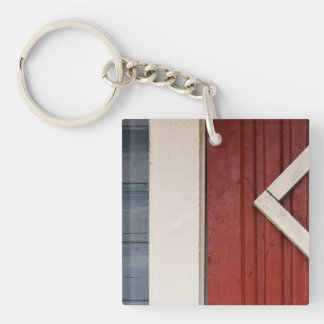 Painted woodwork keychain