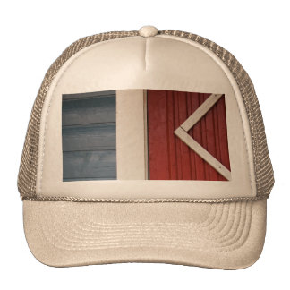 Painted woodwork trucker hat