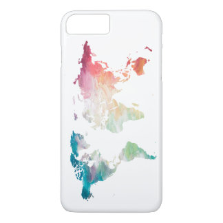 Painted World Map iPhone 7 Plus Case