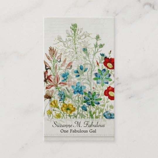 Painted yellow flax flower garden vintage script business card painted yellow flax flower garden vintage script business card mightylinksfo