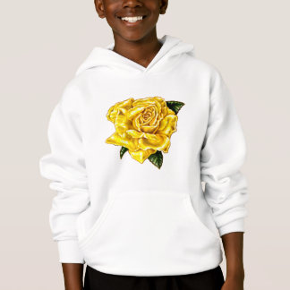 Painted Yellow Rose Hoodie