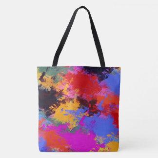 Painted Zebra Tote Bag