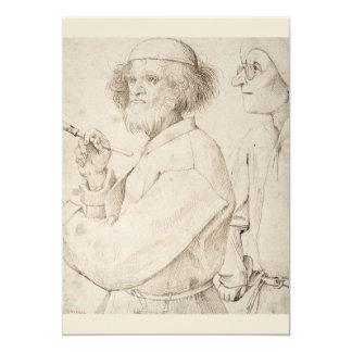 Painter and Connoisseur by Pieter Bruegel Card
