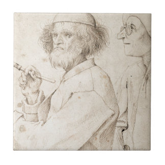 Painter and Connoisseur by Pieter Bruegel Ceramic Tile
