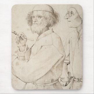 Painter and Connoisseur by Pieter Bruegel Mouse Pads
