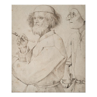 Painter and Connoisseur by Pieter Bruegel Poster