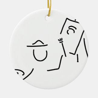 painter artist staffelei ceramic ornament