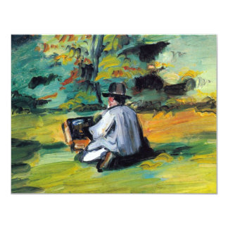 Painter at Work by Paul Cezanne, Vintage Fine Art Card
